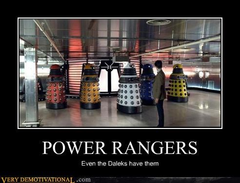 POWER RANGERS Even the Daleks have them