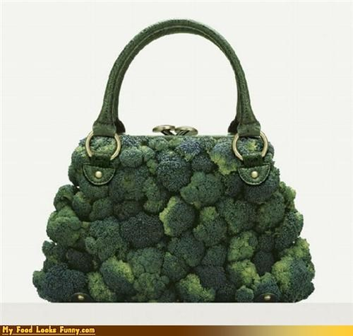 bag broccoli fruits-veggies green purse - 3435742976