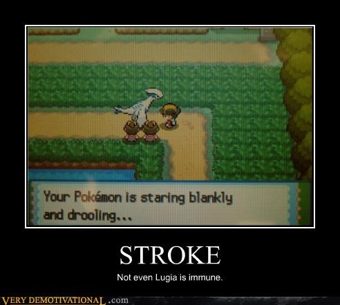 drooling stroke lugia health problem Pokémon - 3435749376