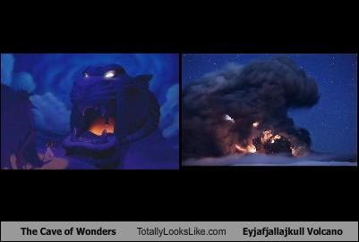 aladdin,Eyjafjallajökull Volcano,Iceland,movies,the cave of wonders,volcano