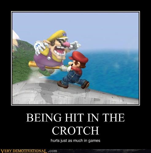 BEING HIT IN THE CROTCH hurts just as much in games