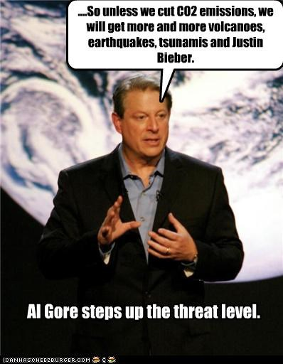 Al Gore democrats global warming justin bieber Natural Disasters vice president - 3436970752