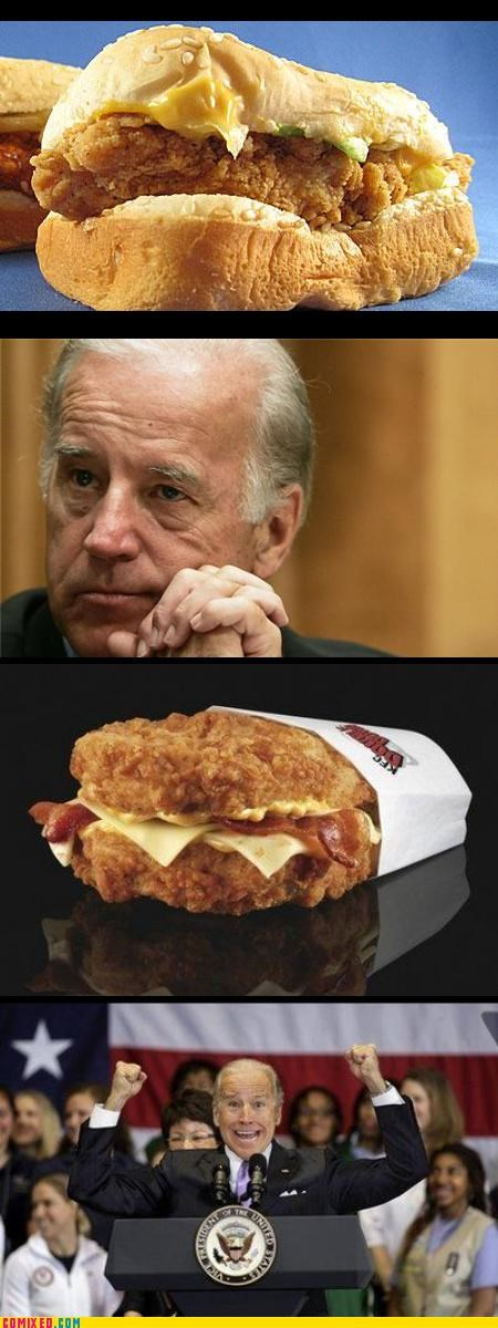celebutard,Double Down,fat,joe biden,kfc,politics,something to believe in