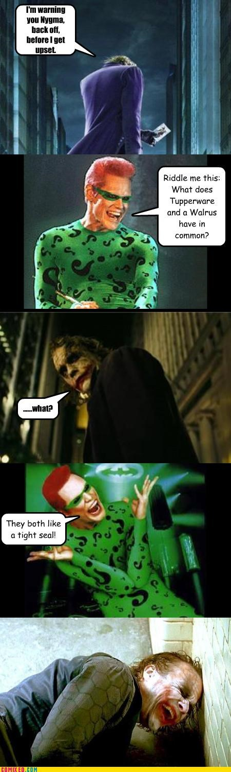 cartoons comics from the movie From the Movies jim carey seals the joker the riddler walruses - 3437040896