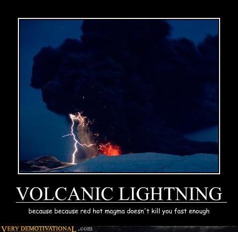 scary magma wtf volcano lightning - 3437418240