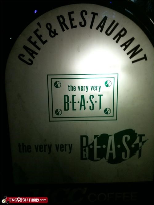 beast best restaurant sign Unknown - 3439007744