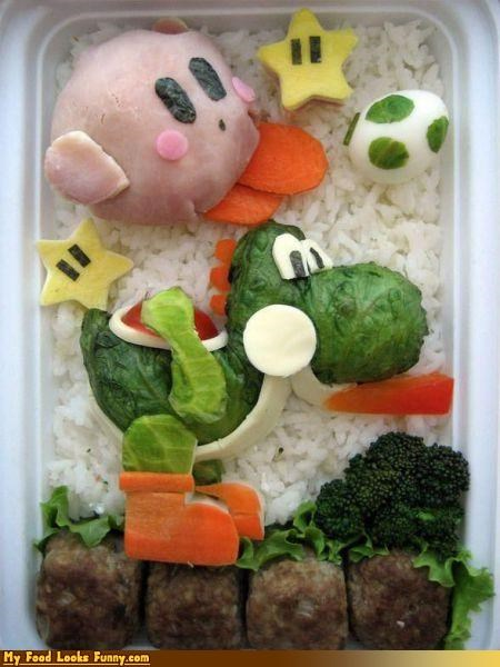 bento bento box box kirby nintendo Super Mario bros yoshi - 3439843584