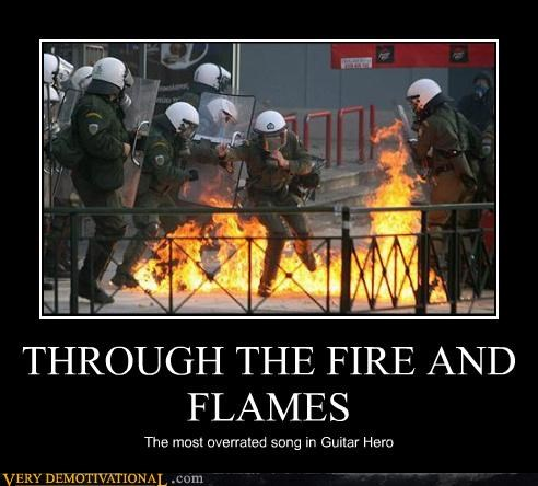 THROUGH THE FIRE AND FLAMES The most overrated song in Guitar Hero