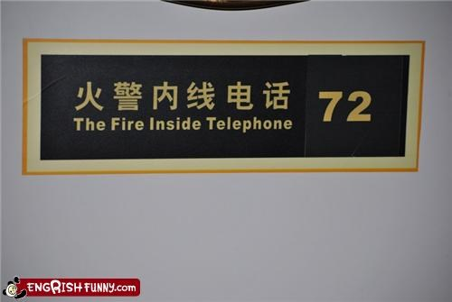 fire sign telephone - 3440328704