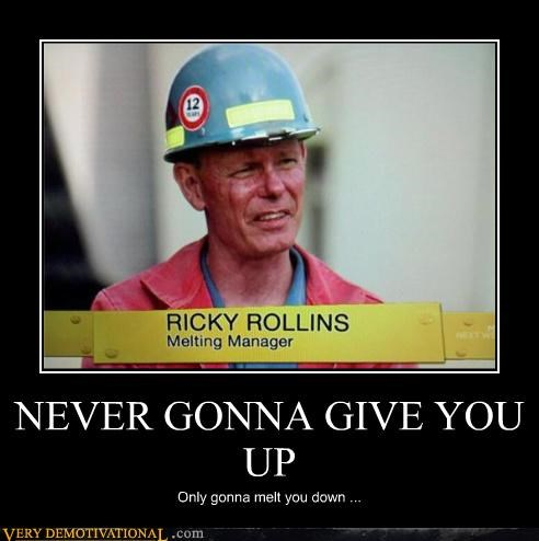 construction guy,hero,hilarious,IRL,rick astley,rick roll