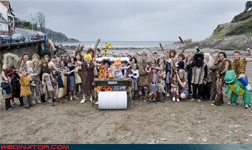 beach party Crazy Brides crazy groom fashion is my passion flintstones were-in-love wedding party Wedding Themes yabba dabba doo - 3444338176