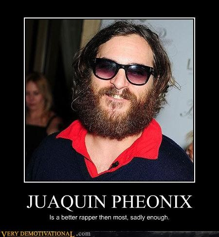 Joaquin Phoenix fact rapper