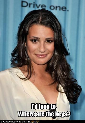 actress driving glee Lea Michele sexy TV - 3447152896
