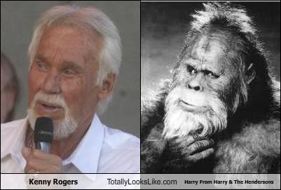 bigfoot,harry,Harry and the Hendersons,Kenny Rogers,movies,musician,sas