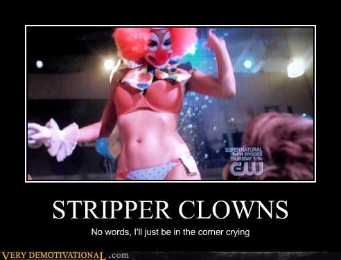 babes boobs cant-sleep-clowns-will-eat-me clowns it john wayne gacy scary strippers Terrifying - 3447412992