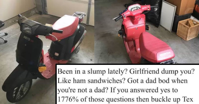 Guy writes hilarious description for his '85 moped on Craigslist that is pure brilliant.