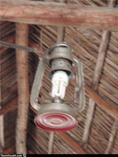 green energy kerosene lamp light bulb