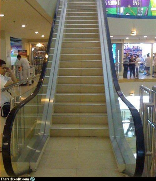 escalator,exercise,health,mitch hedberg,recycling-is-good-right,stairs