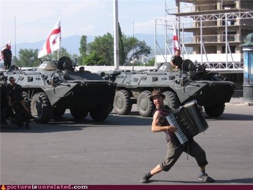 accordion annoying guy Protest tanks wtf