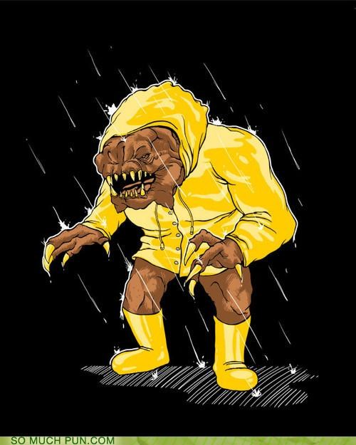 galoshes,rain,rancor,star wars