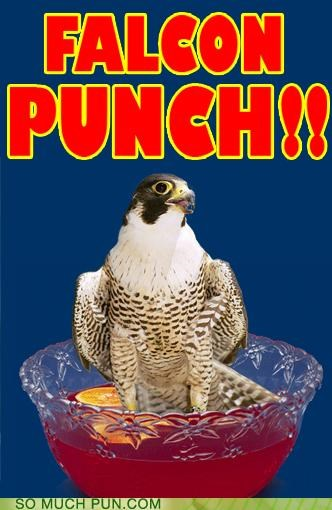 bird falcon Party punch video game