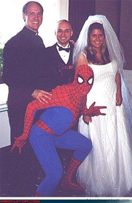 best man bouquet bride fashion is my passion groom Spider-Man surprise were-in-love wedding party Wedding Themes - 3448738048