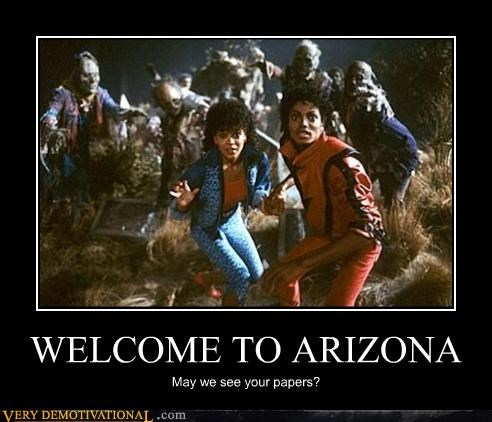arizona border michael jackson thriller zombie - 3449973504