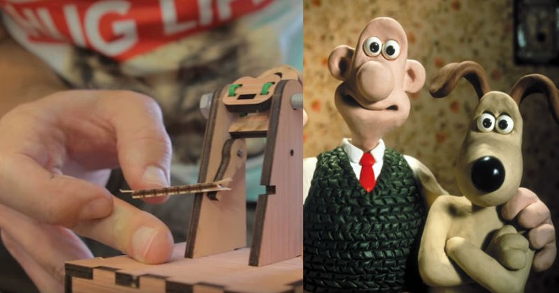 Video of the jelly launcher inspired from Wallace and Gromit.