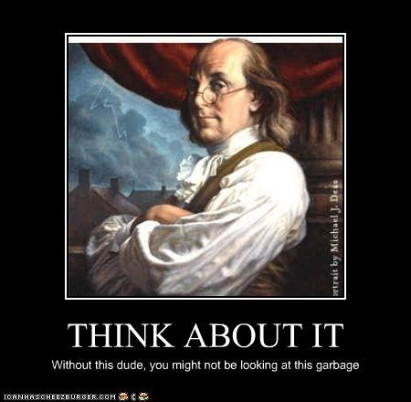 ben franklin common sense electricity portrait truth - 3450705664