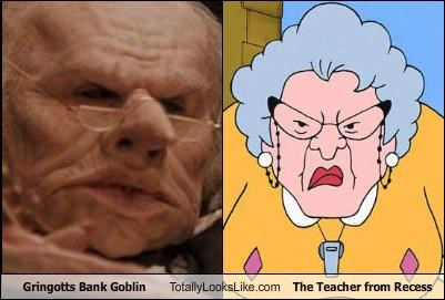 cartoons goblin gringotts Harry Potter movies recess teacher TV - 3451983872