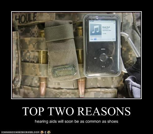 bullets,hearing,ipod,Music,soldiers