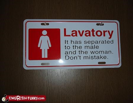 bathroom female male mistake sign - 3452732928