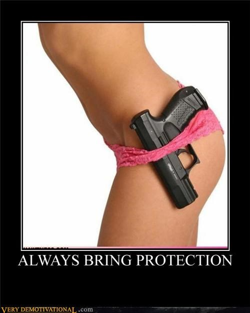 Sexy Ladies,panties,gun,protection