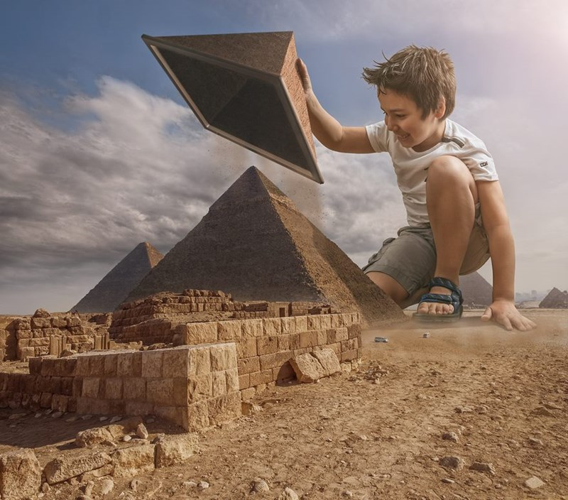 dad photoshop son in famous locations around the world