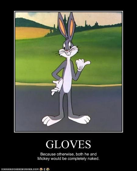 bugs bunny,cartoons,gloves,looney tunes