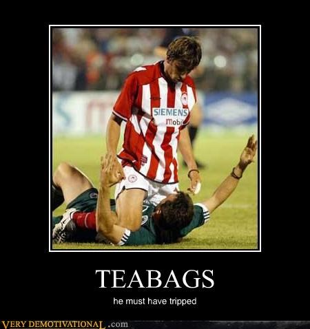 TEABAGS he must have tripped