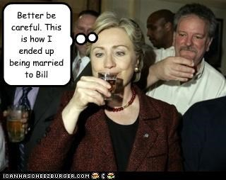bill clinton,democrats,drink,drunk,First Lady,Hillary Clinton,marriage,secretary of state