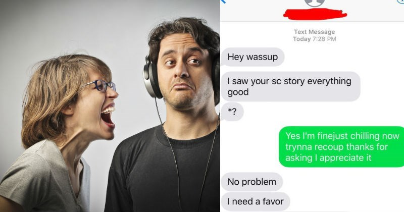 Girl goes crazy on her ex-boyfriend after his near death experience in insane texting rant.