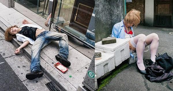 borrachos fotos japon