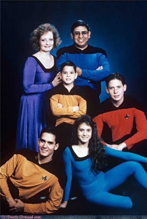 costume family portrait nerds Star Trek - 3461452544