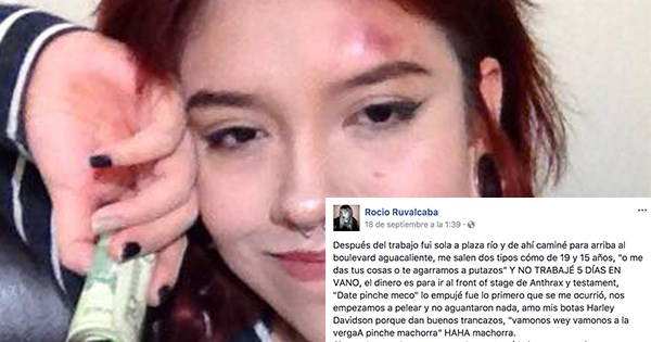 chica lucha contra asaltantes