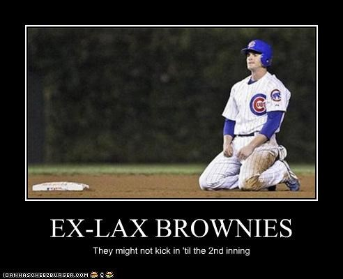 EX-LAX BROWNIES They might not kick in 'til the 2nd inning