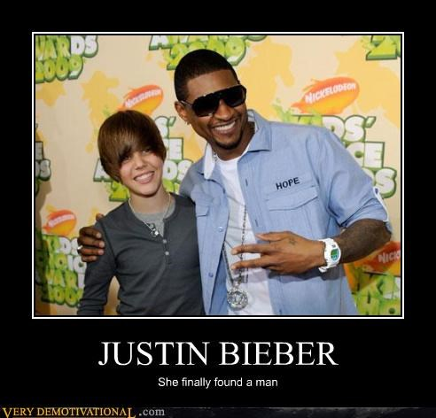 demotivational,hilarious,justin bieber,love,usher