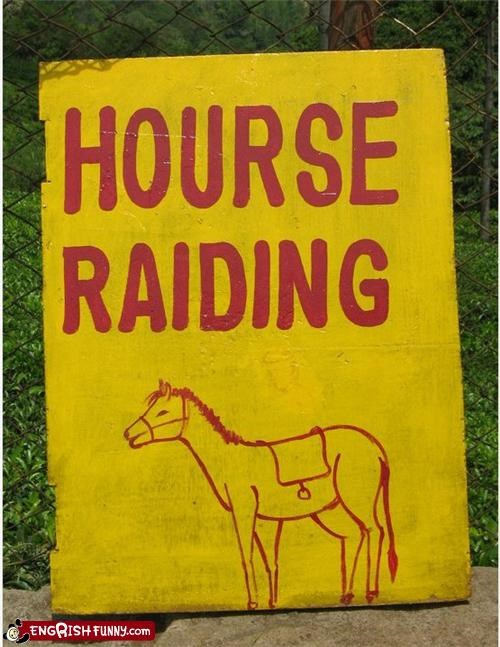 engrish horse raiding