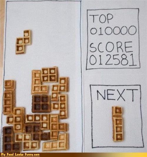 breakfast games Sweet Treats tetris video games waffle tetris waffles - 3466639360