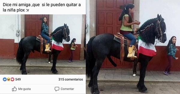 caballo photoshop chica