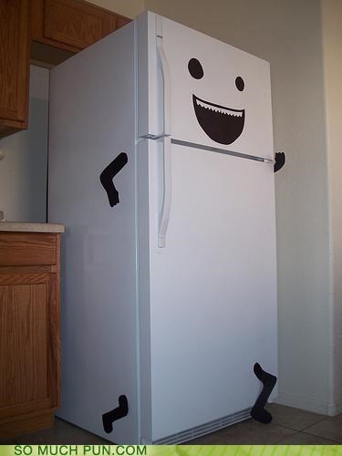 fridge,kitchen,prank,running