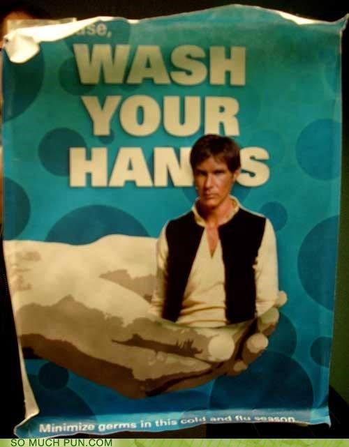 Han Solo hygiene star wars washing - 3467095296