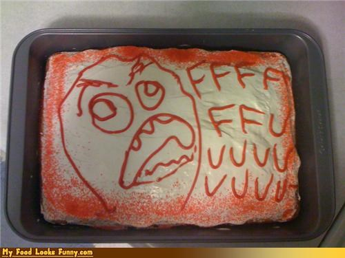 angry,angry cake,cake,comics,FFFFUUUU,Rageguy,Sweet Treats