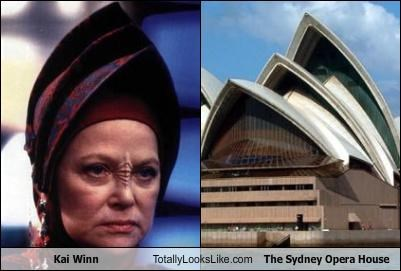 building,hat,kai winn,louise fletcher,Star Trek,sydney opera house